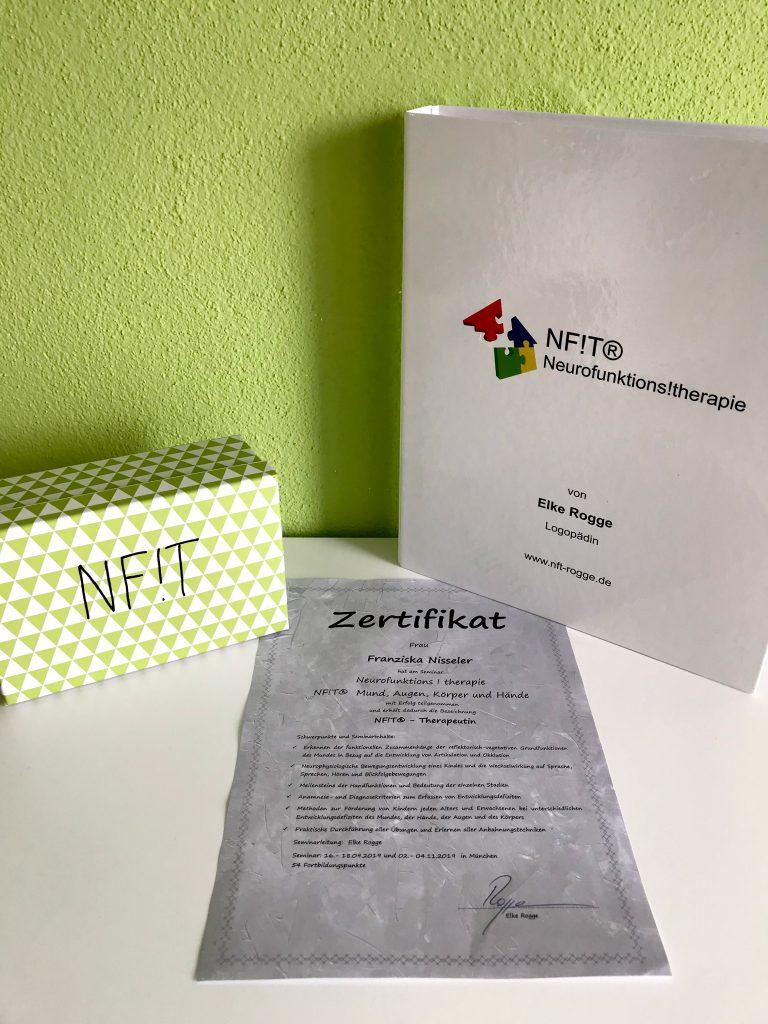 Neurofunktionstherapie Zertifikat